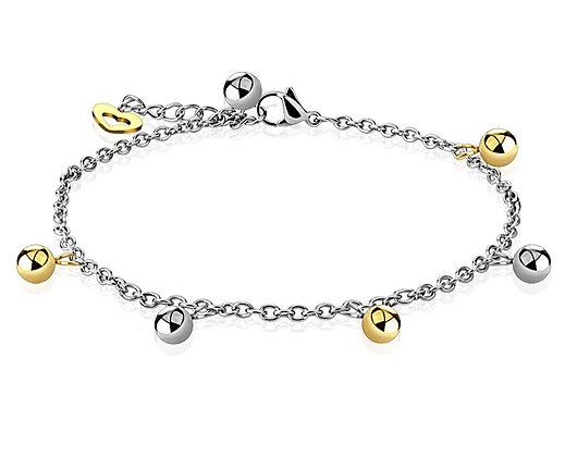 Gold & Silver beads bracelet/anklet