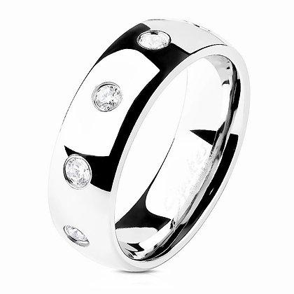 CZ inlay ring