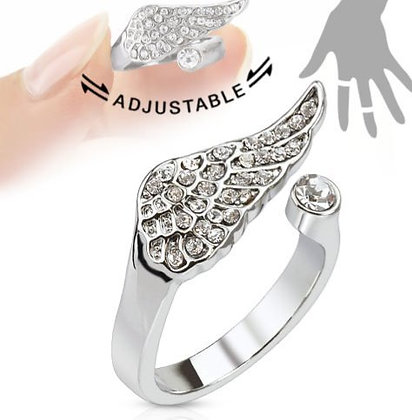 Studded wing adjustable ring