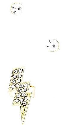Lighting design gold ear cuff