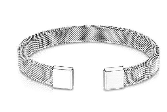 Silver mesh cuff