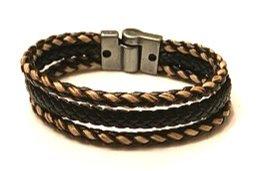 Three strand leather bracelet