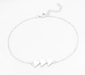 Three triangles center bracelet
