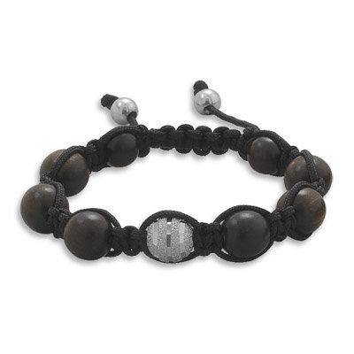 Black & silver ball bracelet