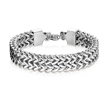 Wide weave bracelet