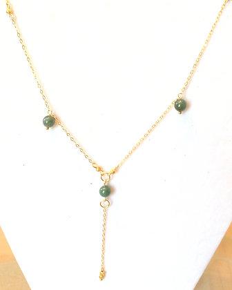 Gold & jade pendant
