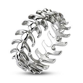 Silver vertebrae ring