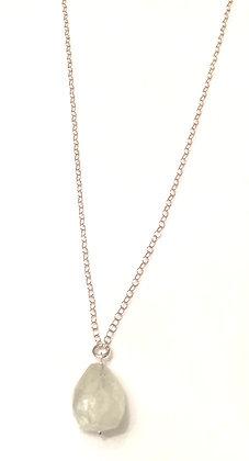 Silver & rock crystal necklace