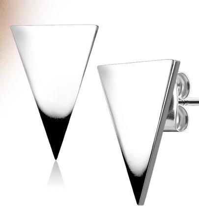 Medium triangle silver studs