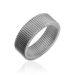Silver mesh ring
