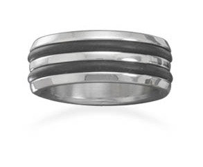 Steel and rubber ring
