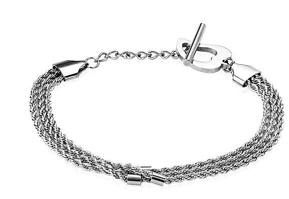 Triple braid with heart bracelet