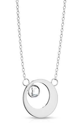 Circle & crystal pendant