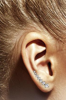 Seven crystals ear climbers