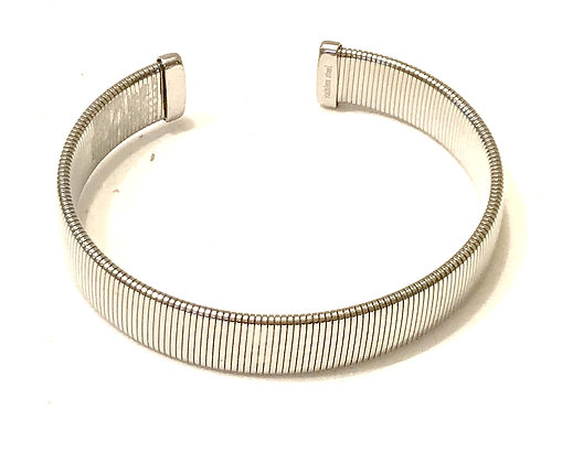 Silver ribbed cuff