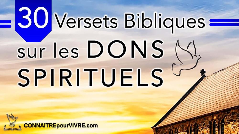 verset biblique dons du Saint Esprit