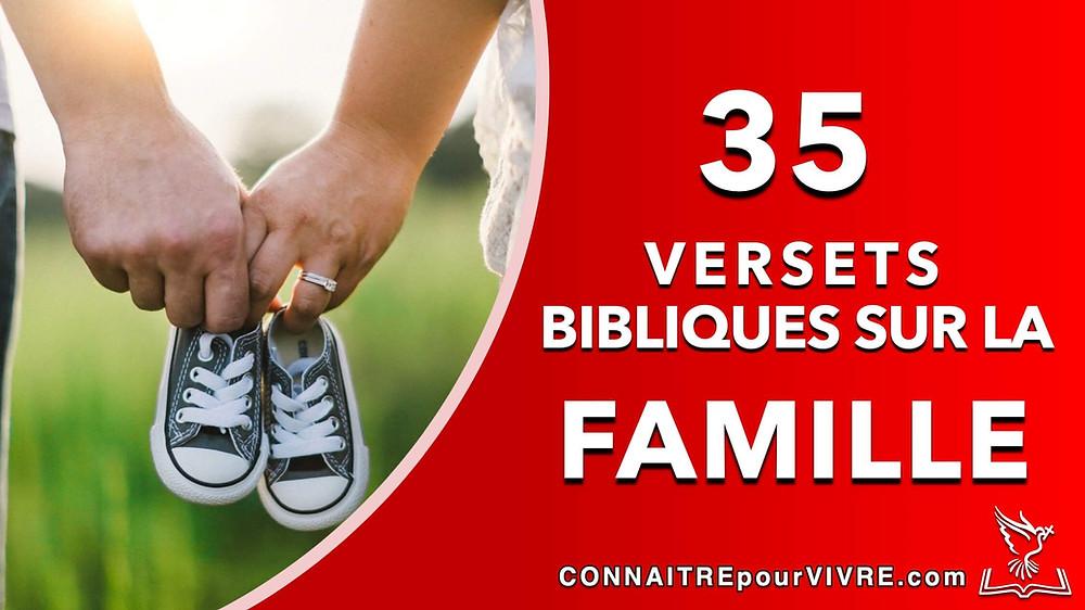 verset bibliques sur la famille
