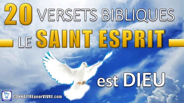 versets bibliques saint esprit est dieu