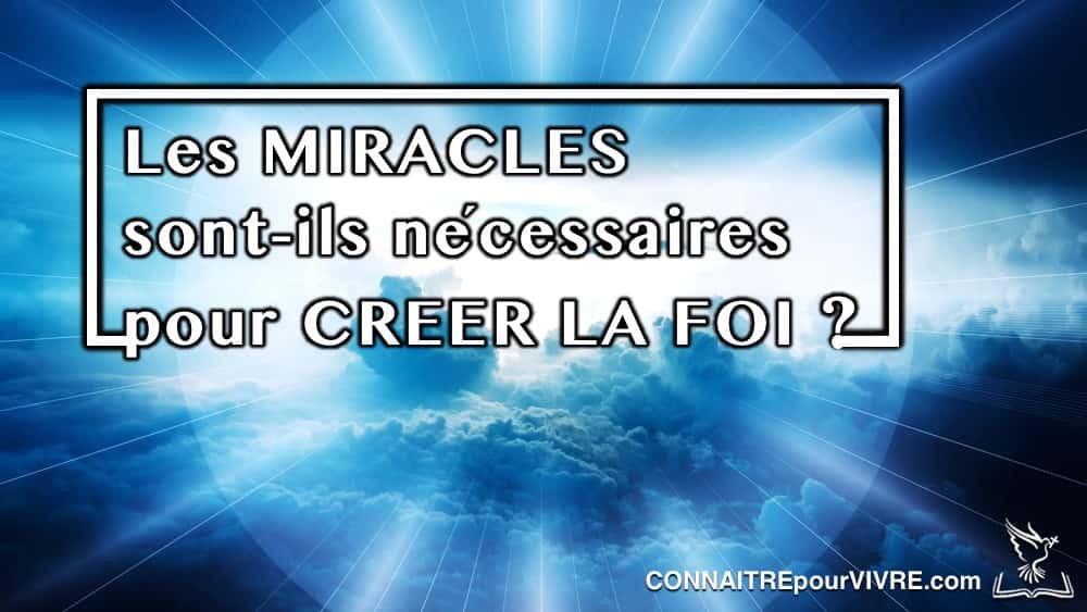 miracles et foi
