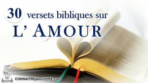 verset bibliques amour