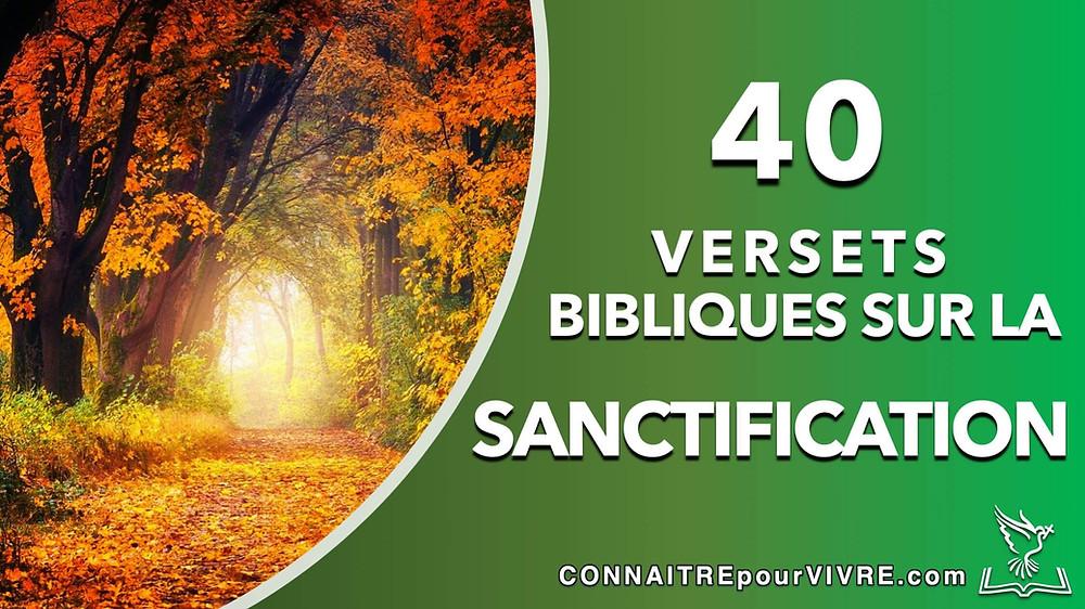 verset bibliques sur la sanctification