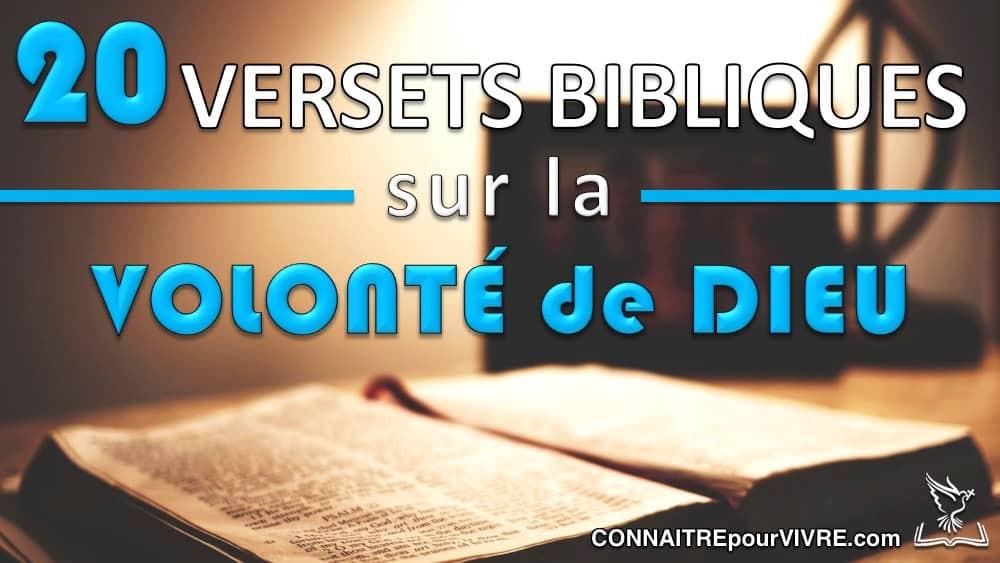 verset bibliques sur la volonté de Dieu