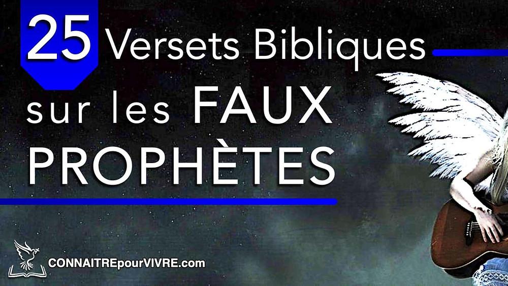 verset biblique faux prophètes