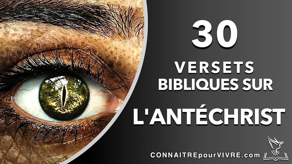verset bibliques sur l'antéchrist
