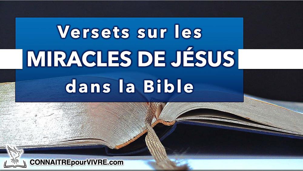verset biblique miracles de jésus