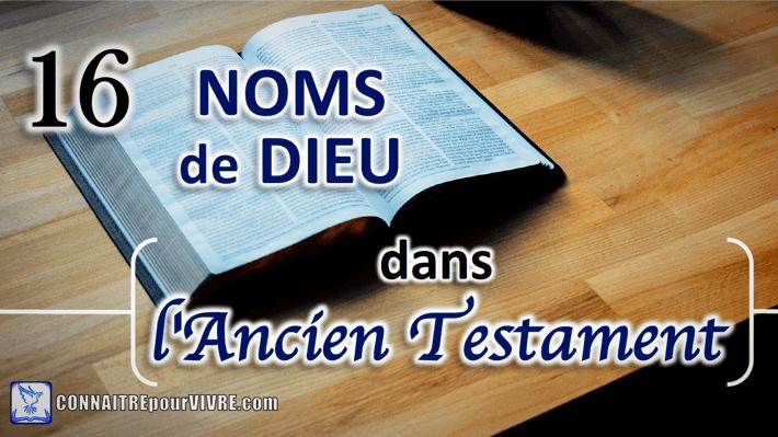 versets bibliques noms de Dieu