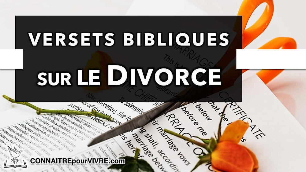 verset biblique divorce