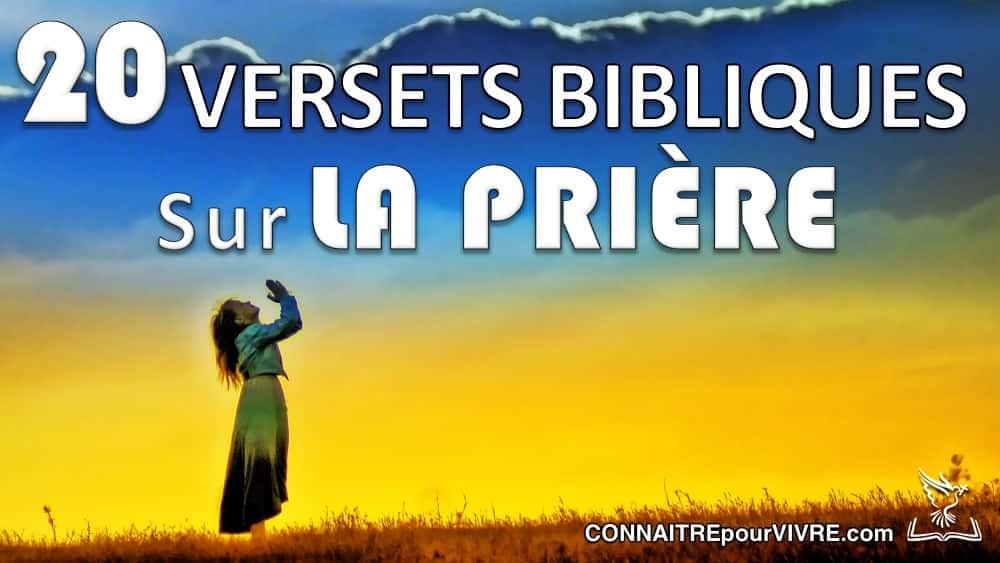 verset biblique prière