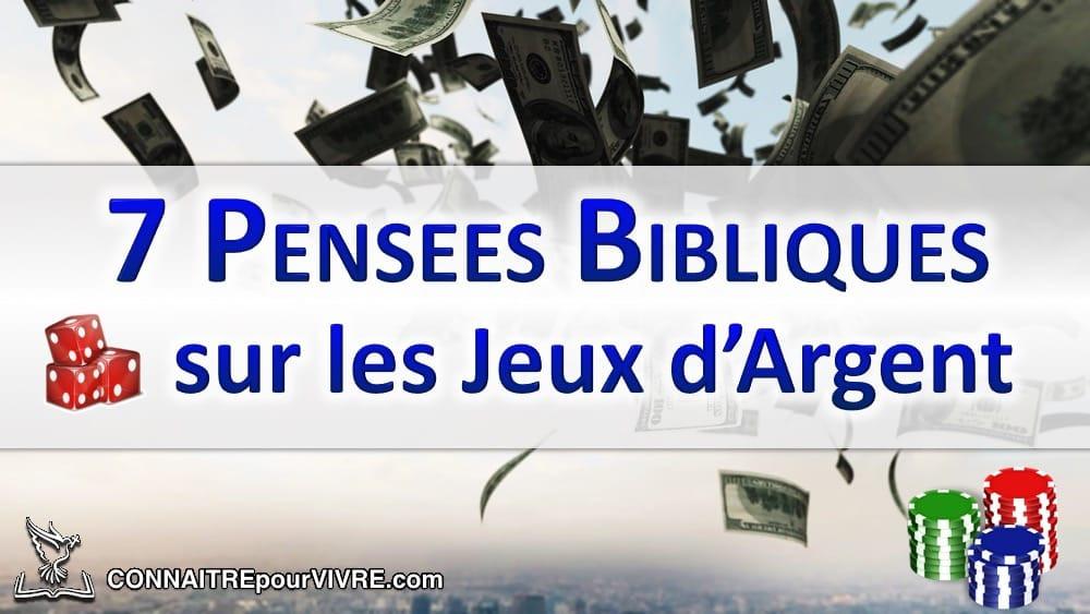 billets jeux argent bible