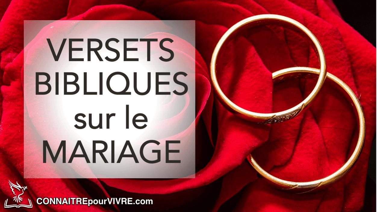 35 Versets Bibliques Sur Le Mariage Connaitrepourvivre