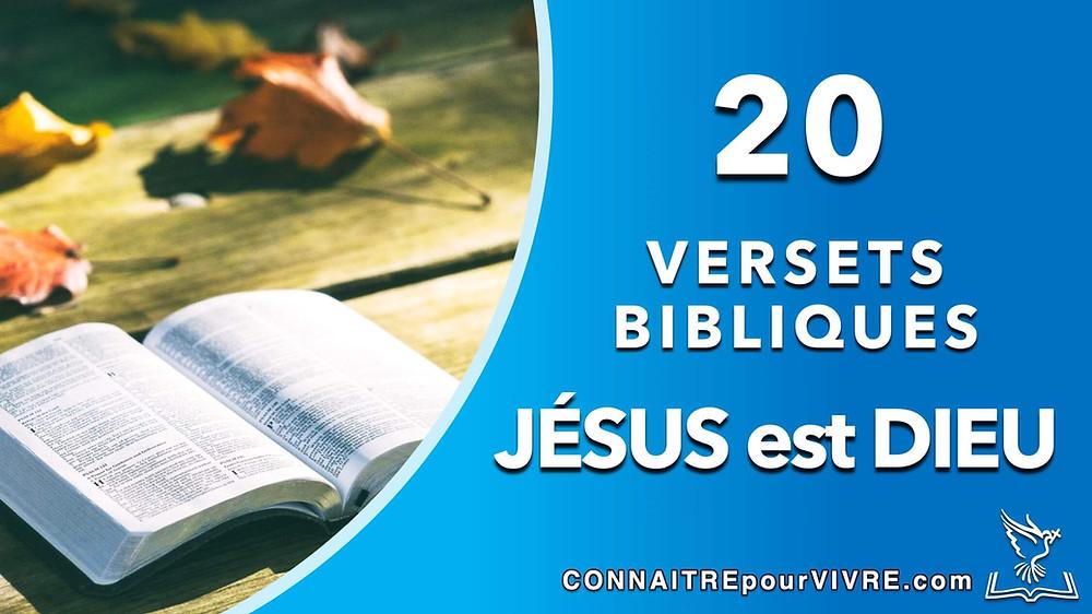 verset jesus est Dieu