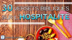 versets bibliques hospitalité table nourriture