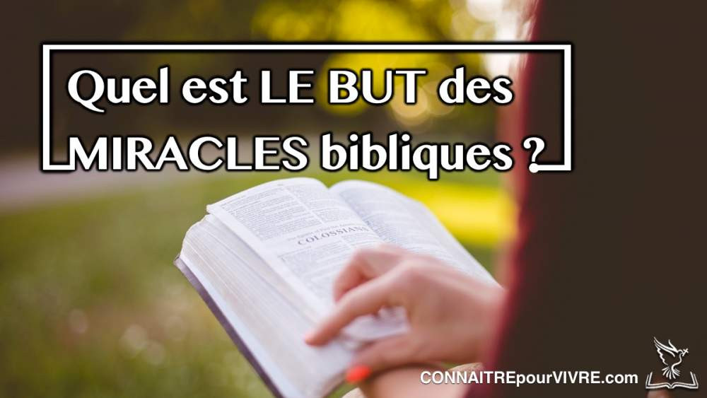 but des miracles bible