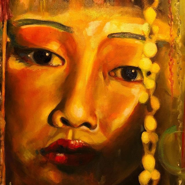 Oil painting #chinesewoman #womenempowerment #womeninart #shareart #oilpainting