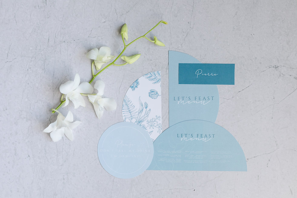 Stationery design for a styled shoot