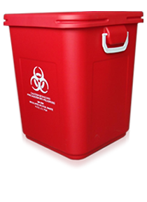 28 gallon medical waste bin
