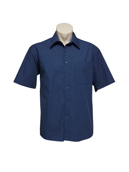 BC Mens Micro Check Shirt Sleeve Shirt