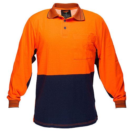 PW Long Sleeve Cotton Comfort Polo