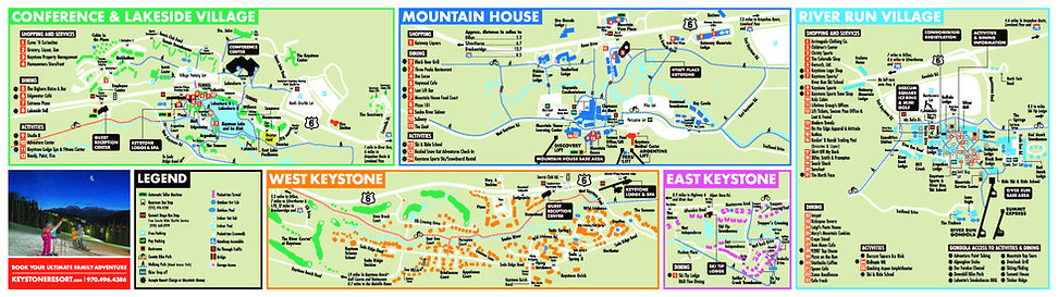 Keystone Resort Map 2017/2018