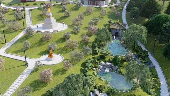 Stupa - z ptačí perspektivy
