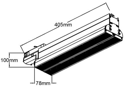 405x100x78mm