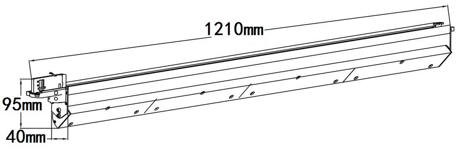 1210x95x40mm