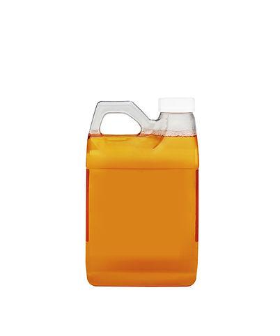 single motor oil bottle isolated on whit