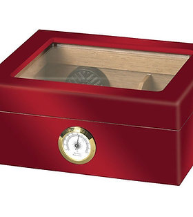 CAPRI- RED&BLACK 50 CT HUMIDOR- HIGH GLOSS COLOR SERIES