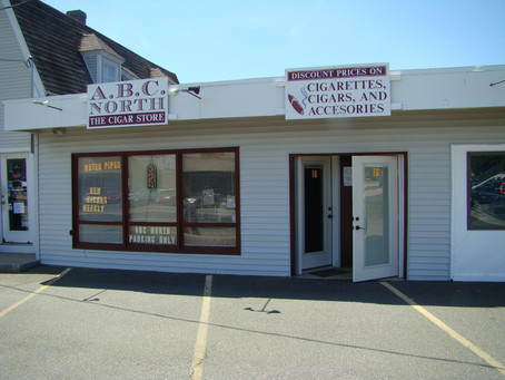 ABC NORTH THE CIGAR AND VAPE STORE IS LOCATED IN TAX FREE NH.
