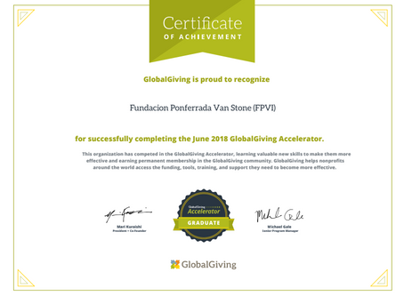 FPVI recognized by Global Giving
